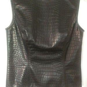 Vegan Leather Top